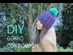 DIY gorro de lana con pompon - YouTube