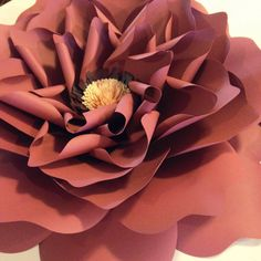 Paper Flower: English Garden Rose 20 by TheBleuDahlia on Etsy