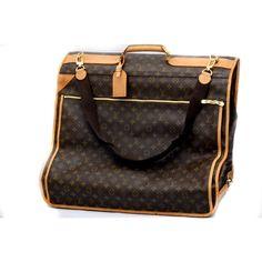 Louis Vuitton Porte Double Bandouliere Garment Authentic Carry Travel Bag