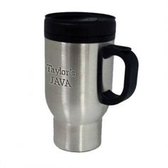 020368 - Stainless Steel Travel Mug Engraved Gifts, Stainless Steel Travel Mug, Mugs, Tableware, School, Etched Gifts, Dinnerware, Tumbler, Dishes