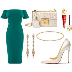 Untitled #347 by cxndai on Polyvore featuring moda, Christian Louboutin, Gucci, Fernando Jorge and Suzanne Kalan