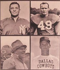 For Sale Vince Lombardi and Tom Landry Photograph. Sold on Fine Art America.com Donna Wilson Photographer/ Artist.