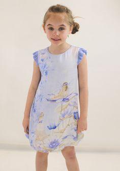 Ava in this beautiful Mayoral silk dress from Designerchildrens... #mayoral #designerkids #designerclothes #luxurykids #kidsclothes #girlsclothes #silk #dress #modelkids