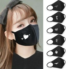 Emoji Cotton Mouth Face Mask Cover Respirator Cycling Anti-Dust Anime Outdoor - Emoji - Ideas of Emoji - Emoji Cotton Mouth Face Mask Cover Respirator Cycling Anti-Dust Anime Outdoor Price : Mouth Mask Fashion, Fashion Mask, Diy Face Mask, Face Masks, Nose Mask, Mouth Mask Design, Diy Masque, Mask Drawing, Mask Template