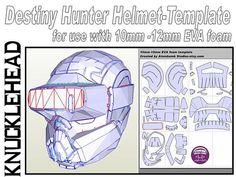 Destiny Hunter Helmet 'Knucklehead'. Template for EVA foam .pdf file and .pdo file
