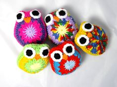 Sensory Toy Set of 5 Owls by SimplyStitcheduk on Etsy, £15.00