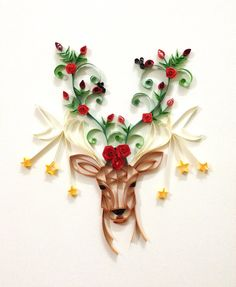 Paper quilling Oh deer by Hyvoky on Etsy