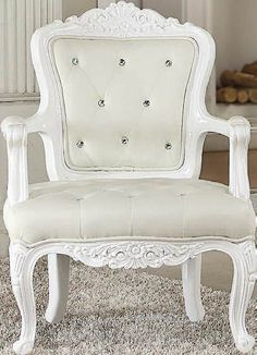 Neo Classic Elegance White Accent Chair 59130 ACM-59130
