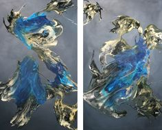 Sharks,  Oils, resin on cotton canvass. 113 x 140