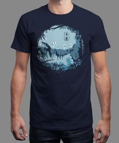 """""""Kodamas"""" is today's £8/€10/$12 tee for 24 hours only on www.Qwertee.com Pin this for a chance to win a FREE TEE this weekend. Follow us on pinterest.com/qwertee for a second! Thanks:)"""
