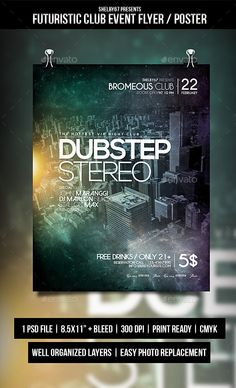 Retro Futuristic Event Flyer  Event Flyers Print Templates And