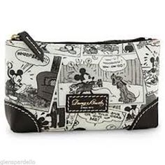 Disney Dooney Bourke Comic Mickey Mouse Cosmetic Makeup Case Bag Leather Disney