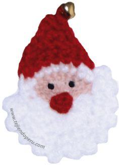 Carita de Papa Noel tejida a crochet