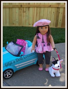 Parisian Capri outfit fits American Girl by GiGisDollCreations