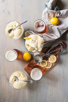 Lemon Shandy Beer Ice Cream Recipe