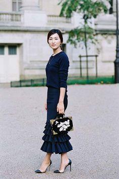 THAT SKIRT THO Paris Fashion Week SS 2016....Nicole Werne #StreetStyle