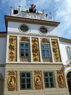 Melk, Austria, Melk Abbey Gardens, Architectural Detail