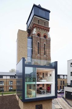 3.) Converted water tower home (England).