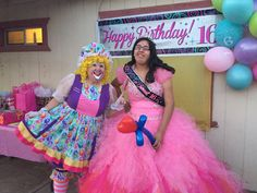 Arizona Clowns was created in 1996 a mother-daughter team that has been bringing fun to Arizona events and parties for over 20 years. Hire a clown today! Sweet 16 Birthday, 16th Birthday, Clowns, Special Events, Balloons, Tulle, Daughter, Party, Fun