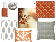 1000 images about master bedroom on pinterest ticking - Grey and burnt orange rooms ...