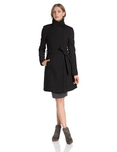 Vince Camuto Women's Funnel Neck Wool Coat with Studded Sleeves, Black, X-Large Vince Camuto http://www.amazon.com/dp/B00D778G9A/ref=cm_sw_r_pi_dp_USssub17Q54NB