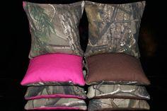 Cornhole Bean Bags REALTREE Camo 8 ACA Regulation Pink Real Tree Corn Hole Bags or CHOOSE your Colors