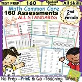 2nd Grade Common Core Math Assessments (160 STUDENT PAGES) - This 2nd Grade Math Assessments Packet has it all!! The resources in this packet are designed to meet all Common Core Math Standards for 2nd Grade!! 160 pages of actual student assessments or use them for skill reinforcement practice!! Take the guesswork out of assessing for common core!