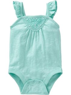 Crochet-Applique Bodysuits for Baby Product Image
