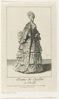 Dame de Qualit� en Echarpe, Bernard Picart, Gaspard Duchange, Lodewijk XIV (koning van Frankrijk), 1706