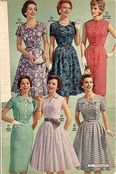 moda mujeres 1950 - Buscar con Google