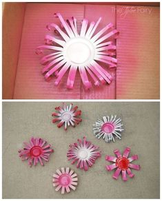 Upcycle your soda cans into a Flower Wreath! Super easy and fun! | The TipToe Fairy #UpcycledBedroomIdeas Aluminum Can Flowers, Aluminum Can Crafts, Metal Crafts, Aluminum Cans, Soda Can Flowers, Tin Flowers, Paper Flowers, Plastic Bottle Art, Flowers From Plastic Bottles