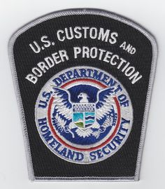 US 001 U.S. Customs and Border Protection Color Version Law Enforcement Badges, Federal Law Enforcement, Fire Badge, New York Police, Federal Agencies, Police Patches, Custom Patches, Military Police, Firefighter