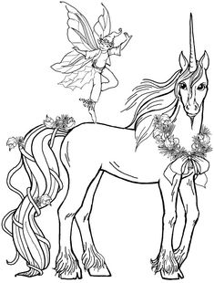 Fairy Boy With Unicorn Coloring Pages