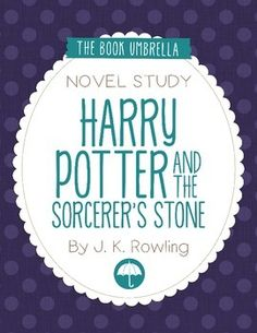 Harry Potter and the Sorcerer's Stone by J.K. Rowling Novel Study $ - Idea for lunchtime book club