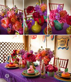 love the colored vases and topo chico