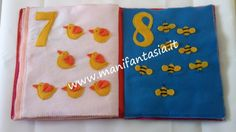 numeri di pannolenci Quiet Book Tutorial, Book