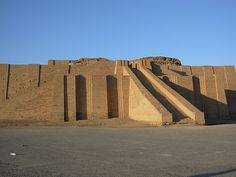 Built round 2100 b.C., the Ziggurat of Ur was - besides a moon god temple being part of a complex of palaces, temples and administrative buildings - an important astronomic observation center to ancient Babylonians.  By the 6th century b.C. there was little left of it, and it was rebuilt in seven stages rather than the three of the first construction.
