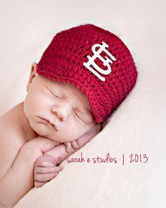 crochet st louis cardinal hat - Google Search