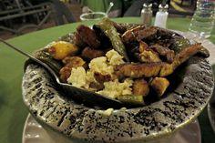Mexican Food (cactus, steak, chicken, and chorizo molcajete) Queretero, Mexico April, 2016 ESLVentures.com