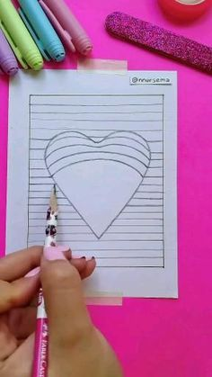 Cute Easy Drawings, Art Drawings Sketches Simple, Art Drawings For Kids, Doodle Drawings, Cool Paper Crafts, Diy Arts And Crafts, Diy Crafts, Mini Toile, Fimo Kawaii
