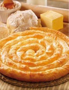 Banitza (Banitsa) – A Bulgarian Traditional Homemade Pie-like Filo Pastry Recipe With Great Possibility For Variation – Jackie Thornton – macedonian food Pastry Recipes, Cooking Recipes, Bulgaria Food, Filo Pastry, Cheese Pastry, Cheese Pies, Macedonian Food, Bulgarian Recipes, Albanian Recipes