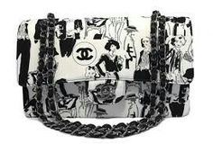 f957a7cfa70a Take a look at this rare limited edition Sketch Flap Bag by Chanel.