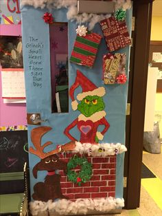 "Grinch door for Christmas! ""You're a mean one Mr. Grinch"