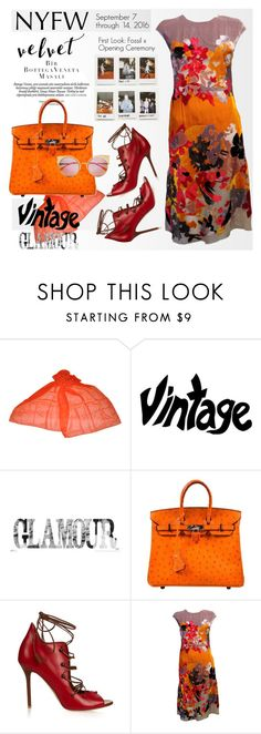 """NYFW: What to Pack - Vintage Velvet"" by esch103 ❤ liked on Polyvore featuring Bottega Veneta, Hermès, Malone Souliers, Fendi, vintage, NYFW, whattopack, contestentry and polyvoreeditorial"