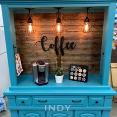 Armoire Bar, Armoire Redo, Painted Armoire, Coffee Bar Home, Coffee Bars, Wine And Coffee Bar, Coffee Cabinet, Liquor Bar, Furniture Makeover