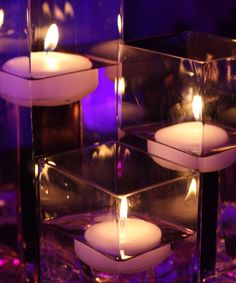Small Floating Candles - White set of 3