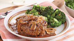 A savory gravy dresses up, skillet cooked hamburger steaks in just 30 minutes. A hearty dinner that combines Progresso™ bread crumbs with beef and mushrooms.