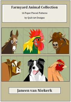 16 Farm Animals E-Book by JaneenVN | Quilting Pattern