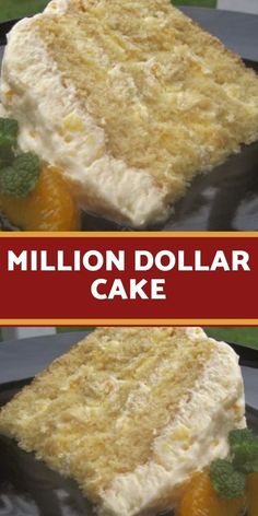 """need a """"Million Dollar"""" recipe because when I asked my DIL what I could. """"I need a """"Million Dollar"""" recipe because when I asked my DIL what I could.""""I need a """"Million Dollar"""" recipe because when I asked my DIL what I could. Köstliche Desserts, Delicious Desserts, Yummy Food, Cupcakes, Cupcake Cakes, Cake Mix Recipes, Icebox Cake Recipes, Yellow Cake Mixes, Food Cakes"""