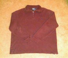 Polo Ralph Lauren Men's Burgundy Sweater Size Large #PoloRalphLauren #12Zip